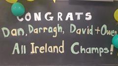 All Ireland Minor Team Visit