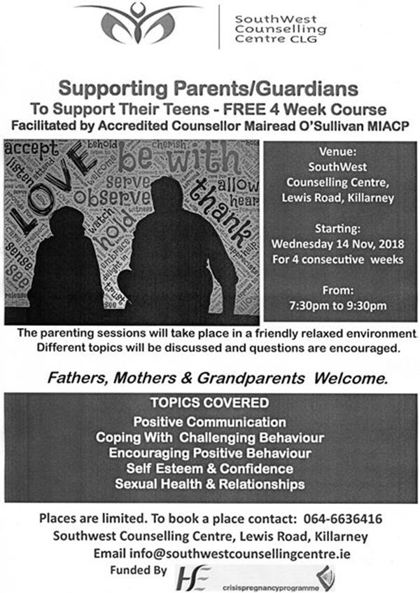 South West Counselling Supporting Parents/Guardians to Support their Teens