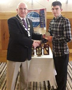 Toastmasters Prize for TY Student Liam McSherry
